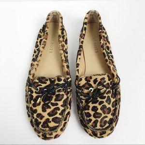 Talbots Leopard Print Calf Hair Loafers Sz 7.5